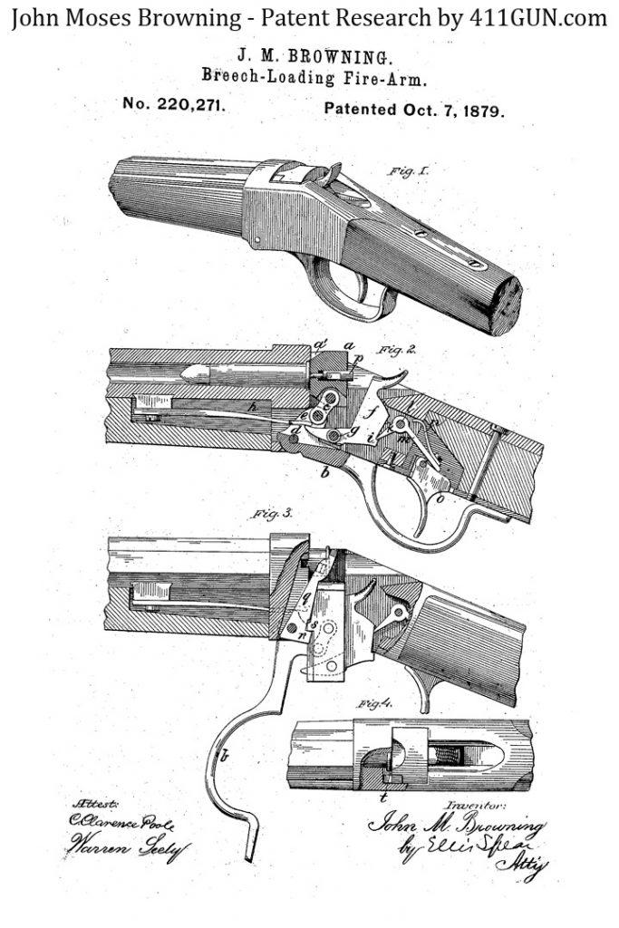 John Browning Patent 220271