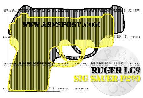 Ruger LC9 vs Sig Sauer P290 size comparison